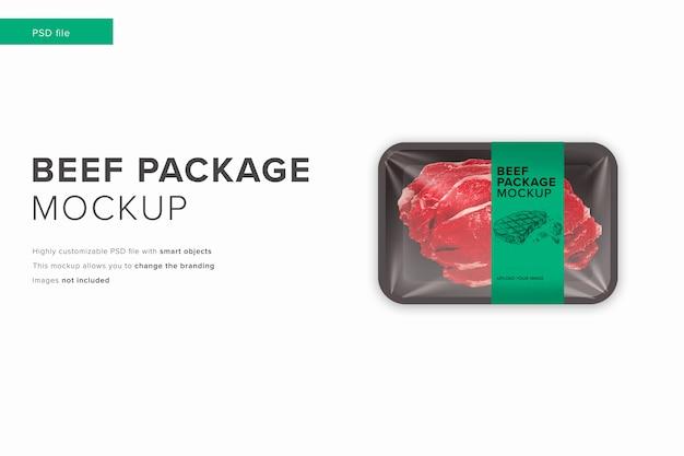 Beef package mockup in modern design style