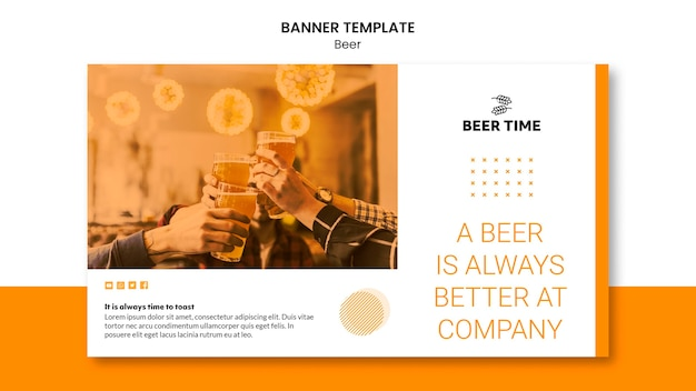Beer banner template design