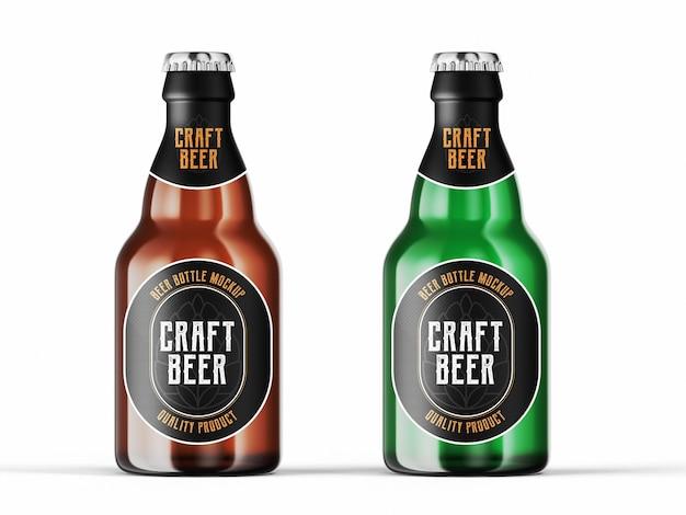 Beer bottle mockup template