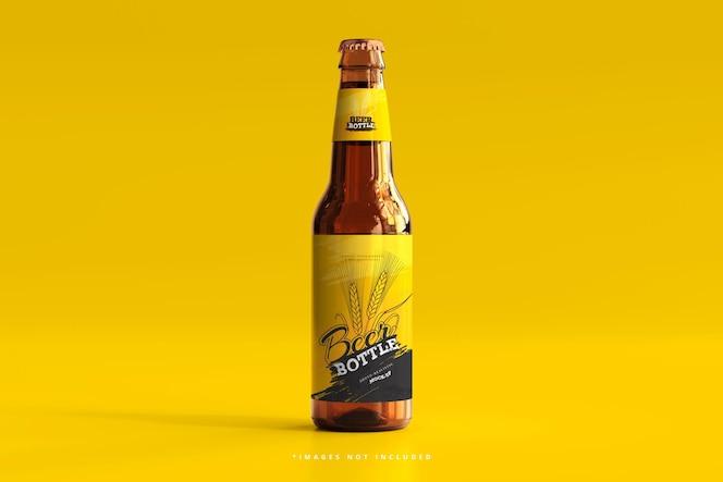 bottiglia di birra mockup