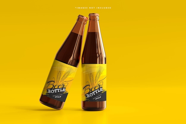 Мокап пивной бутылки