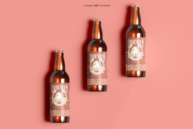 ビール瓶のモックアップ