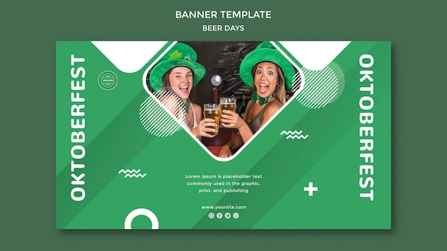 Beer day banner template concept