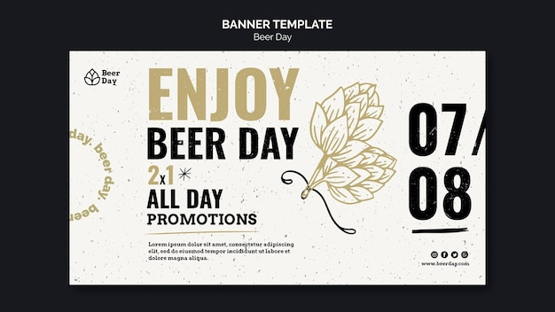 Beer day banner template