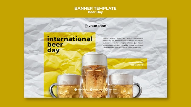 Beer day banner theme
