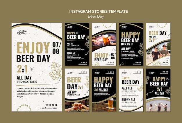 Beer day instagram stories collection
