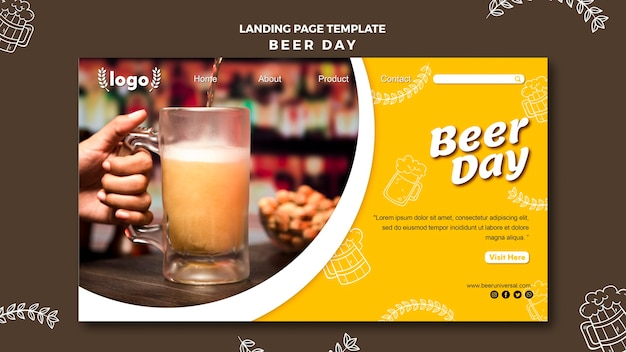 Beer day landing page template