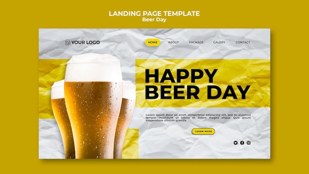 Beer day landing page