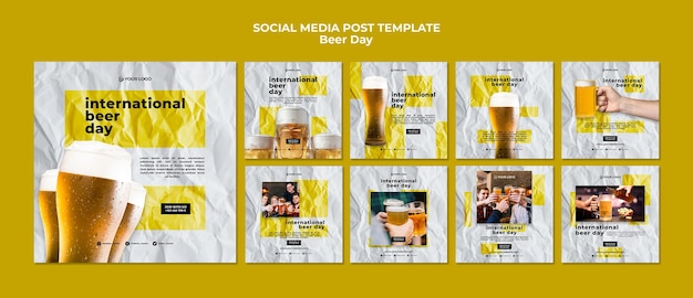 Beer day social media post