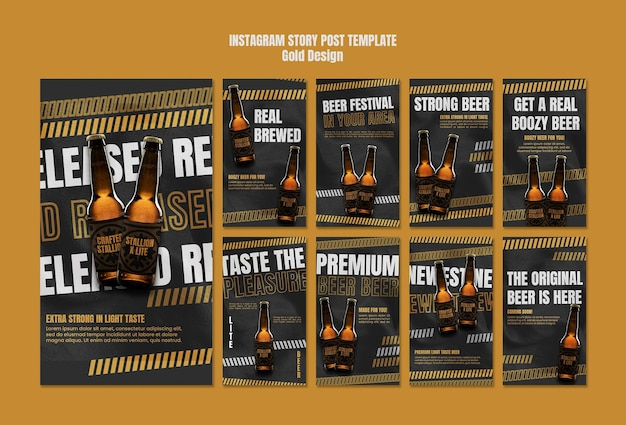 Beer festival instagram stories template