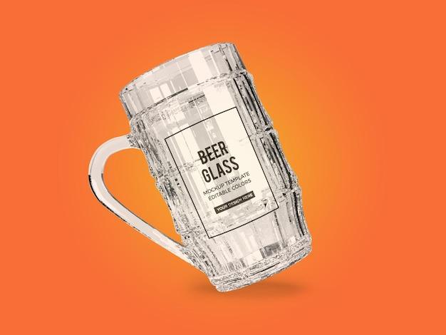 Beer glass mockup design rendering