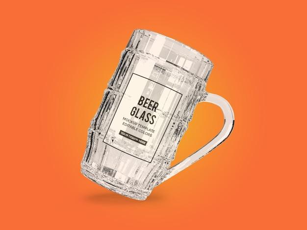Beer glass mockup design