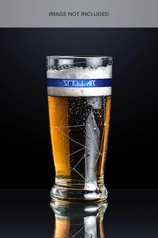 ビールグラスのモックアップ