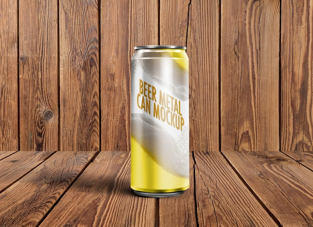 Beer metal can mockup