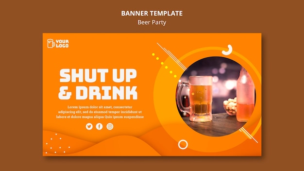 Beer party banner design
