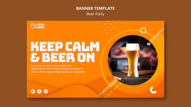 Beer party banner template