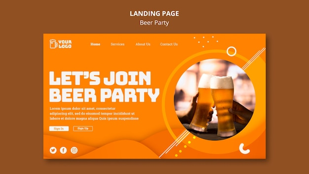Beer party landing page