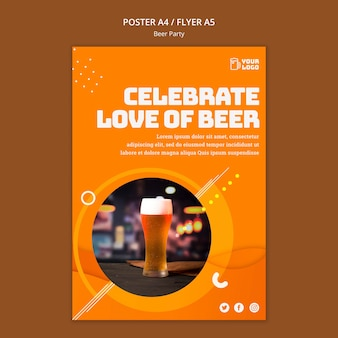 Beer party poster design