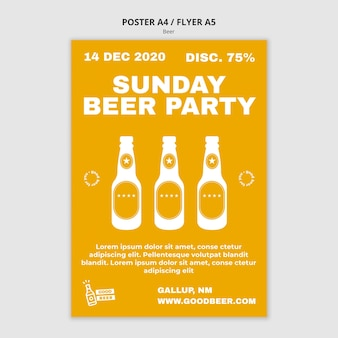 Beer party poster template
