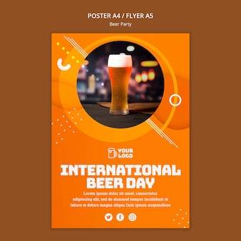 Beer party poster Free Psd