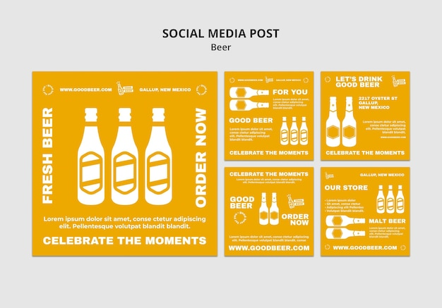Beer party social media post template