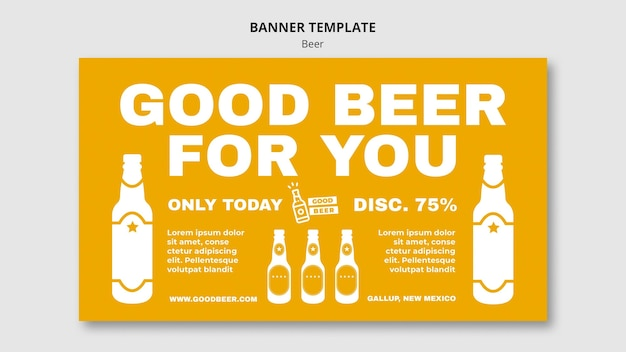 Beer party template banner