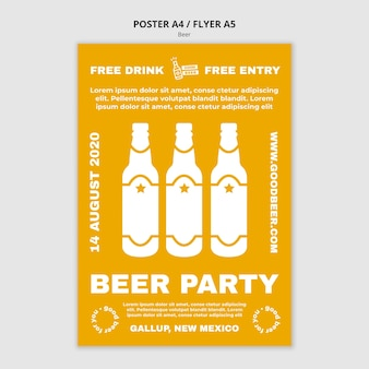 Beer party template poster