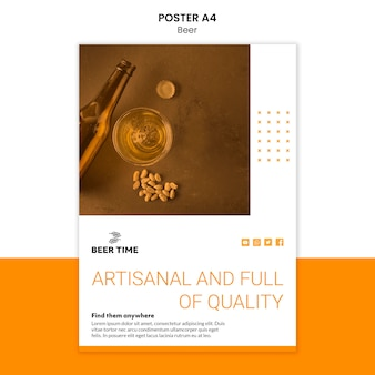 Beer poster template theme