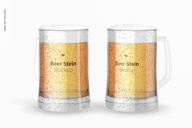 ビールジョッキグラスのモックアップ