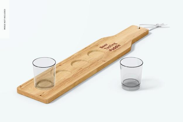 Beer tasting paddle mockup