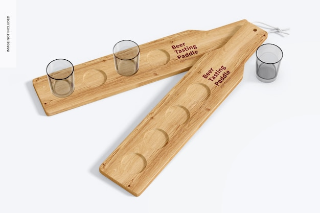 Mockup di paddle per degustazione di birra