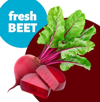 Beetroot with leaves banner