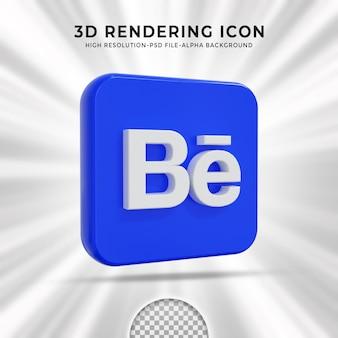 Behance glossy logo and social media icons