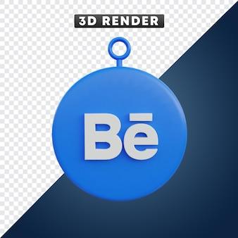 Behance 소셜 미디어 아이콘 3d 개체