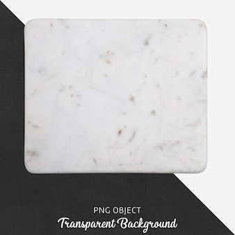 Бежевая мраморная сервировочная тарелка на прозрачном фоне