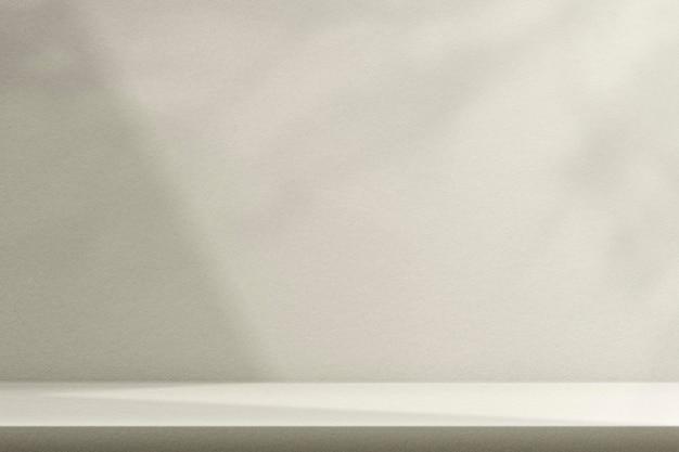 Modello di sfondo prodotto beige psd con ombra