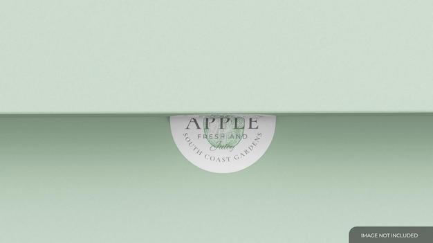 Bend circular sticker mockup