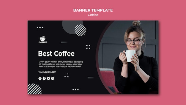 Best coffee concept banner template