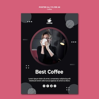 Best coffee concept flyer design