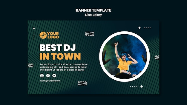 Best dj in town banner template