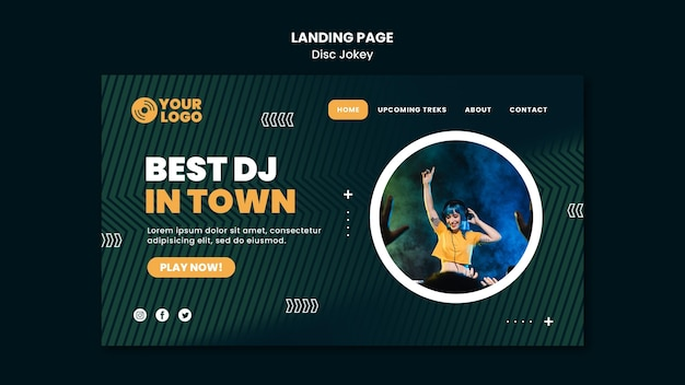 Best dj in town landing page template