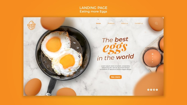 Best eggs in the world landing page template