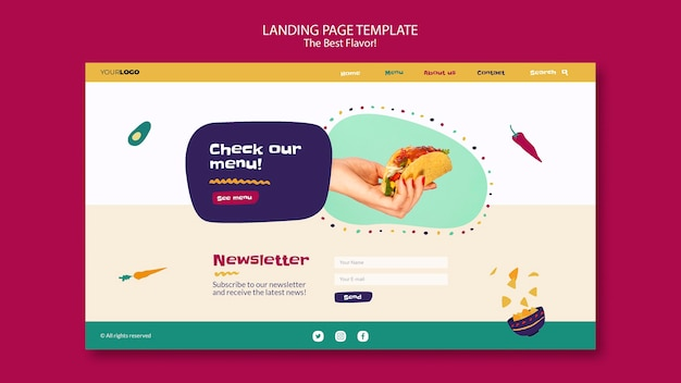 The best flavor landing page