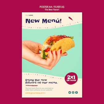 The best flavor poster theme Free Psd