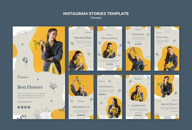 Best flower shop instagram stories template