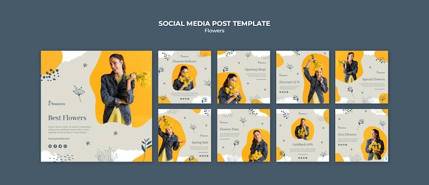 Best flower shop social media post template