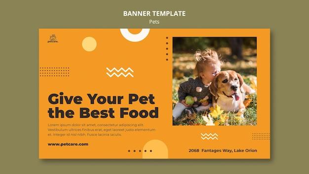 최고의 음식 애완 동물 배너 서식 파일