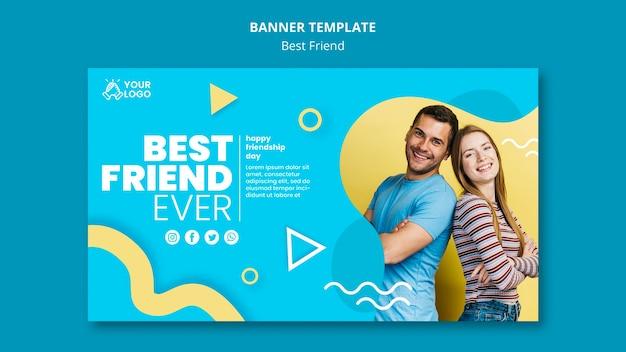 Best friends banner template