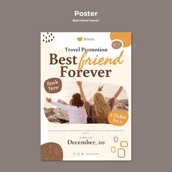 Шаблон плаката лучшие друзья навсегда