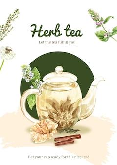 Лучший плакат с травяным чаем